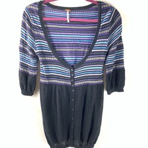 Free People knit layering button up cardigan s